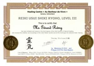 Diplome Reiki III - GR